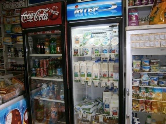 Витрины-холодильники с товаром