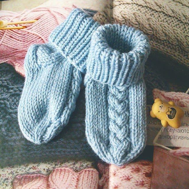 Рисунок 1 Вязаные носочки от olgaglad77