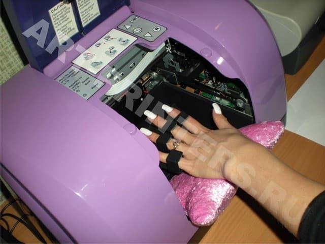 Как сделать наклейку принтер 890