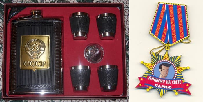 Примеры сувениров, которыми торгует Алексей