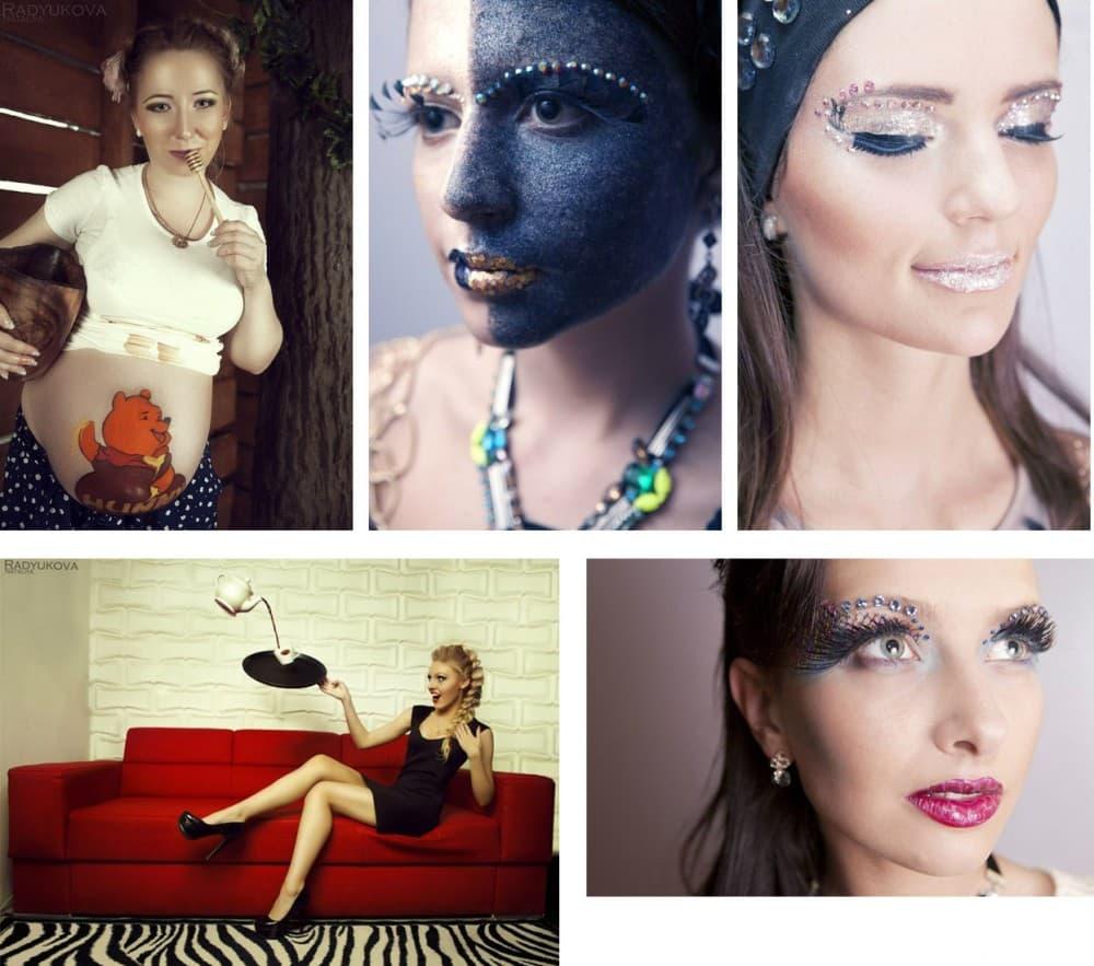 Боди-арт для беременных и макияж для фотосессий от визажиста Владлены Каминской.