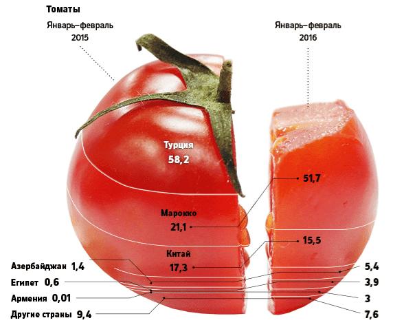 Рис. 3 Какие страны заменят Турцию по поставкам томатов, объем в млн.$ Источник: Расчеты Центра международной торговли Москвы на основе данных Федеральной таможенной службы (ФТС)