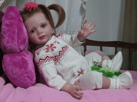 На фото: Кукла Фредерика, реборн ручной работы Татьяны Примак