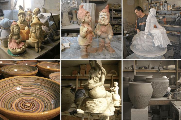 На фото: Керамические изделия, изготавливаемые мастерской «Керам Арт»