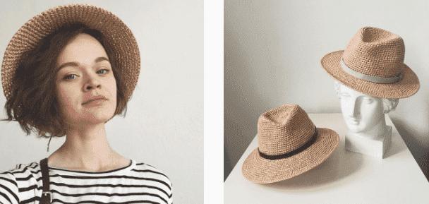 На фото: Валя Гришина, которая создает шляпы дома