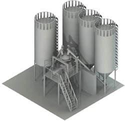 установка по производству строительных смесей