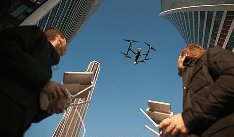 Рисунок 3. Квадрокоптер в действии