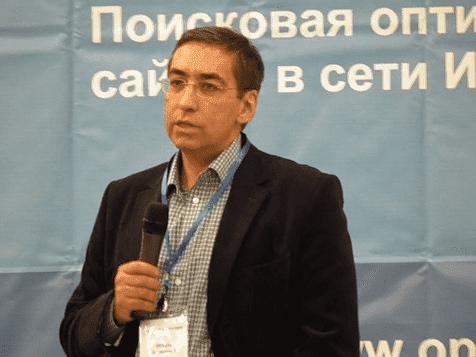 Рисунок 1. На конференции в Сколково, 2014 год. Источник: сайт «AllSeo»